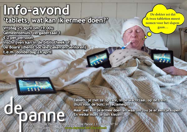 Affiche tablets in bed 2014
