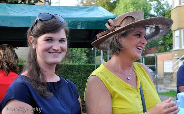 Foto uit de Coxydsche Gazette van onze burgemeester en dochter