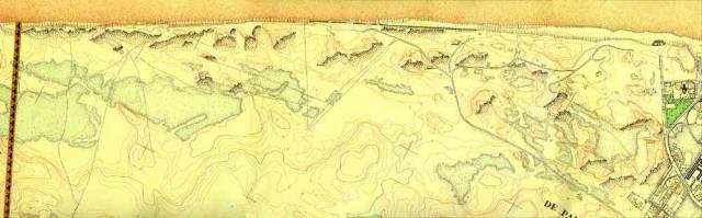 Stafkaart van 1945 waarop de bevoorradingswegen van de Atlantic Wall op aangeduid zijn