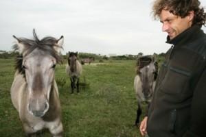 Een tevreden boswachter Johan Lamaire