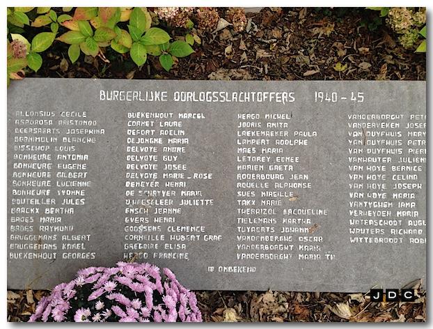 Gedenksteen 86 burgerlijke slachtoffers WO II
