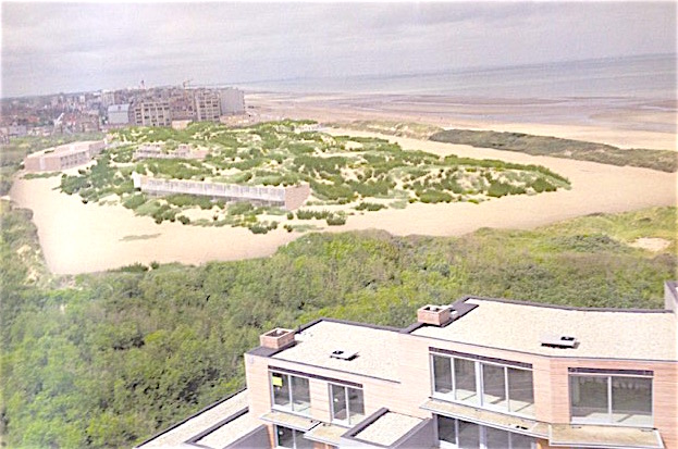 Wit zandgedeelte van camping zal aansluiten op groen gedeelte van ZILT. Beide delen krijgen een nieuw geïntegreerd duinenrelief en beplanting.