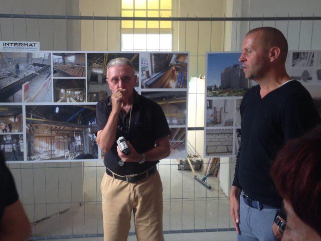 Rechts architect Popeye, midden zijn vader hartspecialist