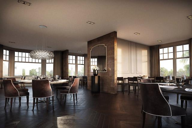 Publiek restaurant in de villa (foto uit website van Vulpia)